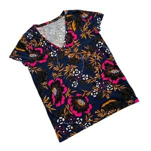 Target A New Day Floral V-neck Tee XL